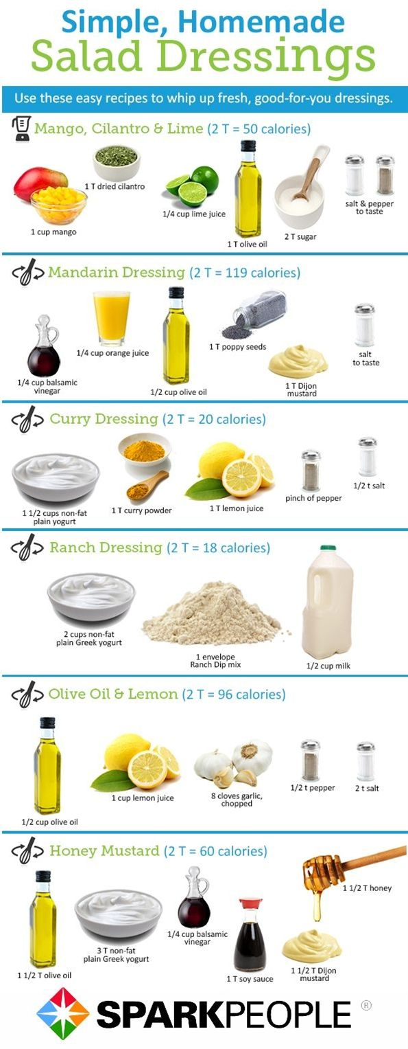 Looking for a way to replace your store bought salad dressings that are high in calories and/or sodium? We've rounded up some healthy salad dressing recipes that will be sure to liven up your salads with less sodium and calories.
