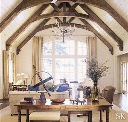 Living room - beautiful room - love the ceiling | Suzanne Kasler