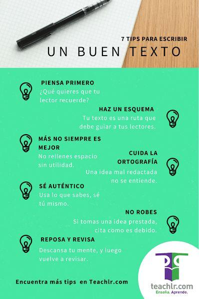 7 Consejos para Escribir Buenos Textos | #Infografía #Educación