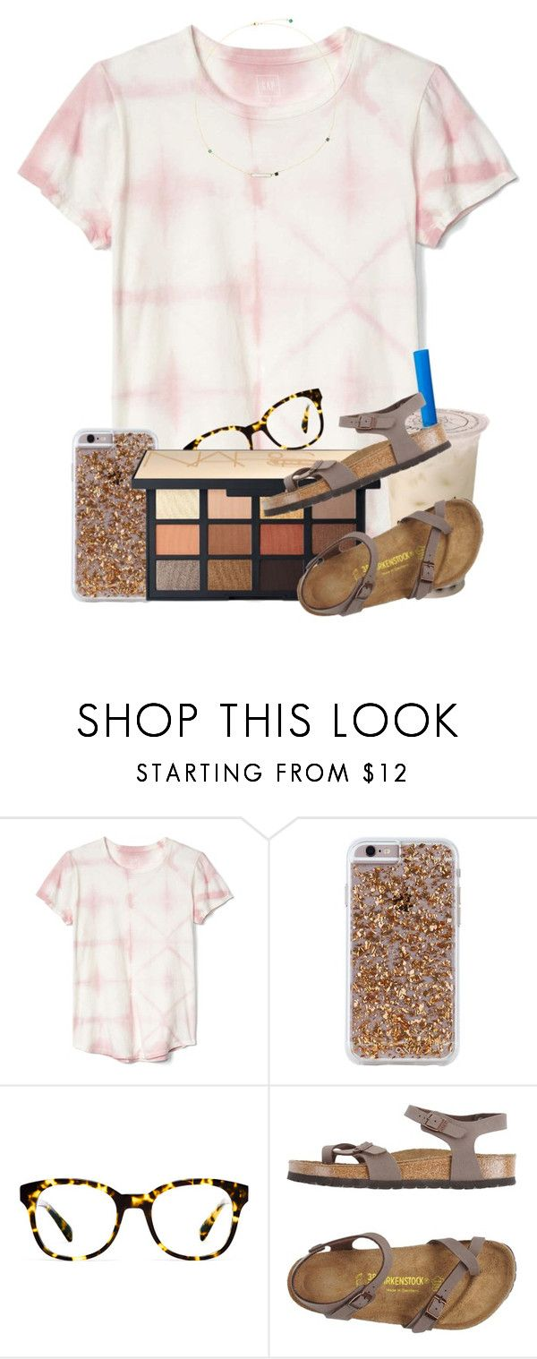 """Enter the contest before its over!"" by ellisonharris ❤ liked on Polyvore featuring Gap, Case-Mate, Warby Parker, NARS Cosmetics and Birkenstock"
