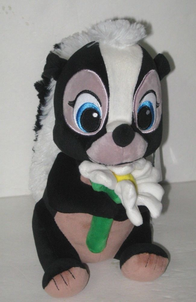 "e795d9717f5 Authentic Disney Store Flower Skunk 9 ½"" Plush Figure Doll Bambi Friend NWT   AuthenticGenuineDisneyStore"
