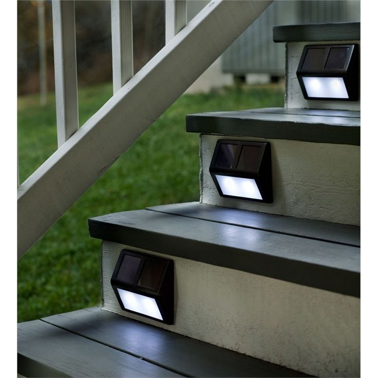 Set Of Four Solar Step Lights | Outdoor Lighting
