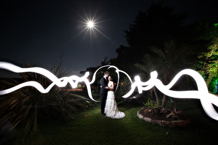 Light Painting in the Wedding