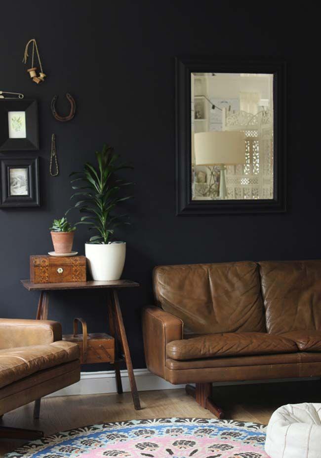 living room wall paint colors%0A     Exotic Dark Living Room Design Ideas