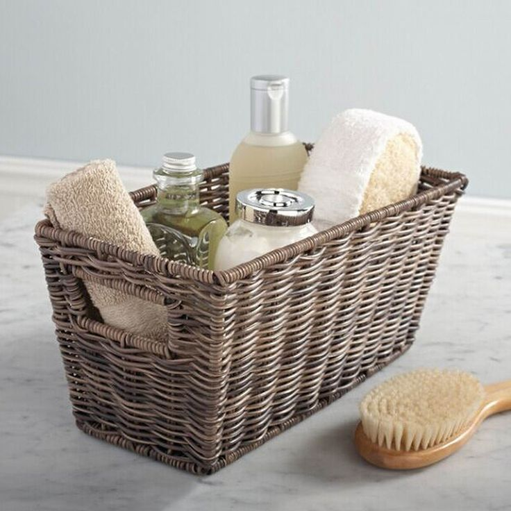 Use our #NEW and lovely rattique basket to keep items organized. https://www.tidyliving.com/large-rattique-basket.html #TidyLiving #Storage #Baskets #Rattique #Tidy