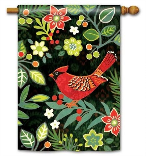 Magnet Works House Flag   Folk Cardinal Decorative Flag At Garden House Flag