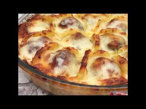 Boil Potatoes And Slice Them. Arrange With Meatballs And Cheese And Bake For A Delicious French Treat