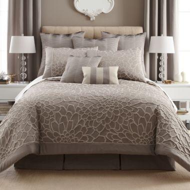 Liz claiborne kourtney 4 pc comforter set accessories jcpenney la maison pinterest for Jcpenney bedroom furniture sale