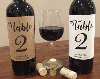Tabella numero etichette di vino etichette di vino