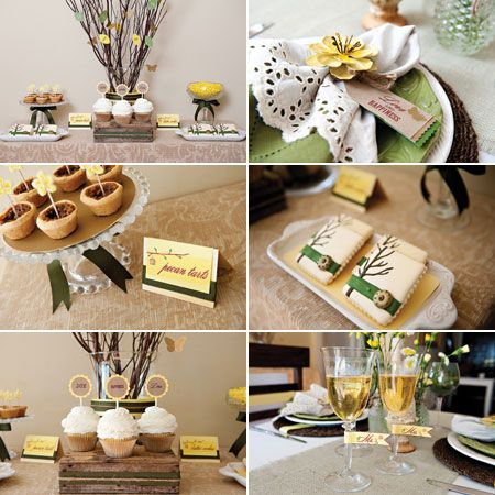 rustic country wedding shower | Rustic chic wedding style ideas : Brides