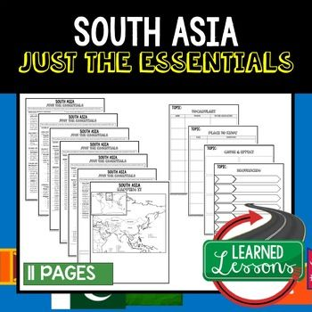 South Asia Geography Outline Notes JUST THE ESSENTIALS Unit Review