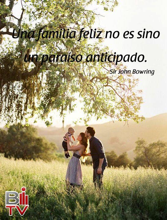 Una familia feliz no es sino un paraíso anticipado.  #Quote #Frase #Familia