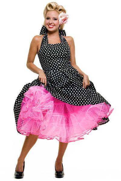 1950 S Style Hot Pink Crinoline Skirt For Swing Dresses