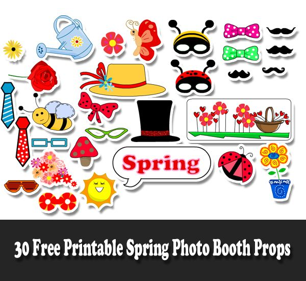 graphic regarding Free Printable Superhero Photo Booth Props titled Free of charge Printable Spring Photograph Booth Props Coach PS_Spring