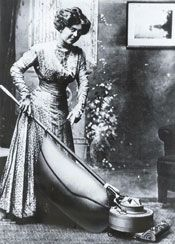 vacuum cleaner - invented by Hubert Booth in 1901. This was the first major house hold device that allowed people to clean their rugs, or floors.