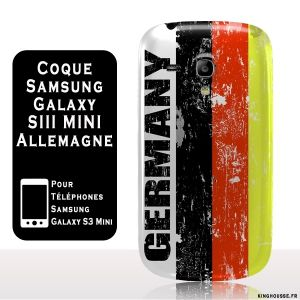 Samsung Galaxy S3 Mini : coque galaxy s3 mini drapeau Allemagne Vintage. #Coque #s3 #mini #i8190 #Allemagne #germany #cover #samsung