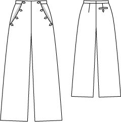 Burda 04-2012-125 (can be used for sailor style pants)
