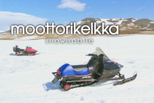 moottorikelkka ~ snowmobile