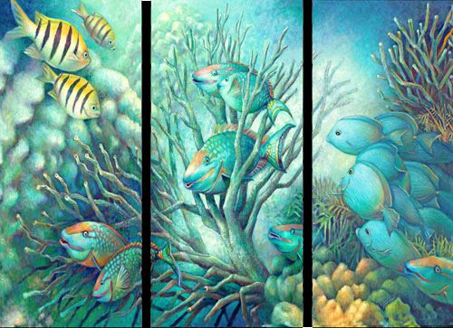 1000 images about ocean and sea life 2015 on for Sea life paintings artists