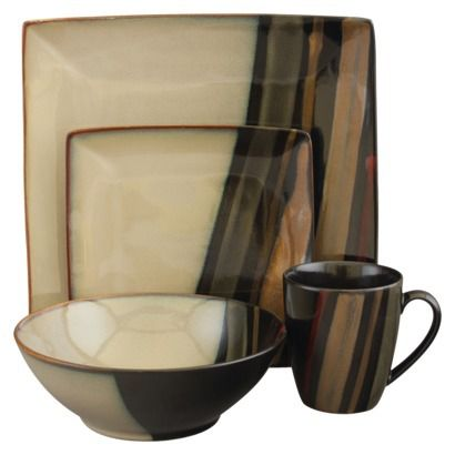 Dinnerware Set  sc 1 st  Pinterest : square dinnerware set for 8 - Pezcame.Com