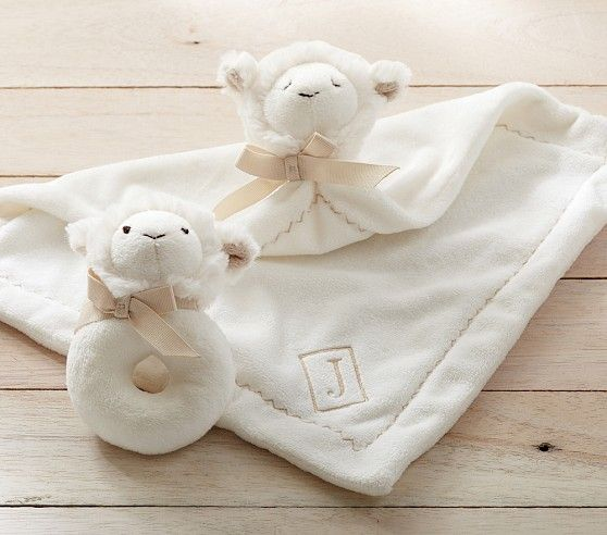 Lamb Plush Thumbie Amp Rattle Baby Washcloth Lamb Nursery