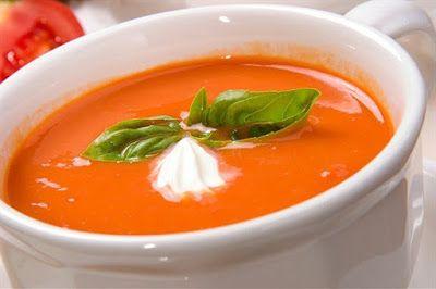 Самые лучшие кулинарные шедевры: Томатный суп-пюре с базиликом