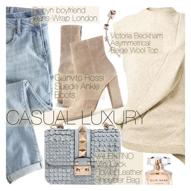 """""""Casual Luxury"""" by pokadoll ❤ liked on Polyvore featuring Victoria Beckham, Wrap, Valentino, Gianvito Rossi, Elie Saab, polyvorecommunity, fashionset, polyvoreeditorial, polyvorefashion and polyvoreset"""