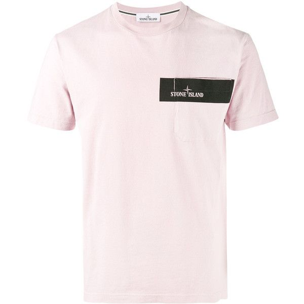 Stone Island graphic logo T-shirt (366.135 COP) ❤ liked on Polyvore featuring men's fashion, men's clothing, men's shirts, men's t-shirts, pink, mens cotton shirts, mens sports shirts, mens sports t shirts, men's cotton short sleeve shirts and mens sport shirts