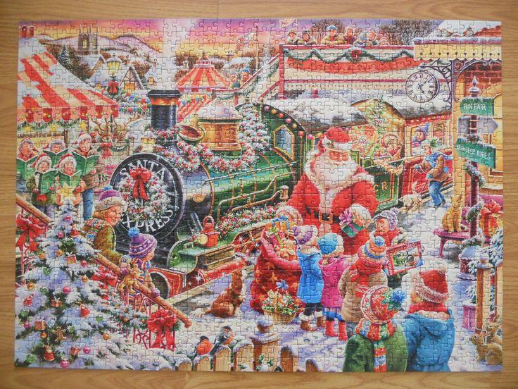 """""""Ravensburger christmas 1000 parça"""" Hazır yapılmış ve yapıştırılmış çerçeveye hazır puzzle Aynı gün kargo!  Satın almak ve fiyat bilgisi için ürün görseli üzerine tıklayın lütfen..!!"""