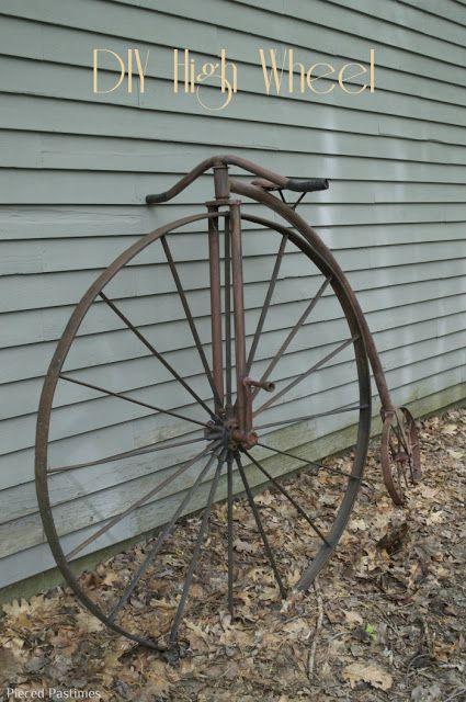 Pieced Pastimes: DIY High Wheel aka Penny Farthing