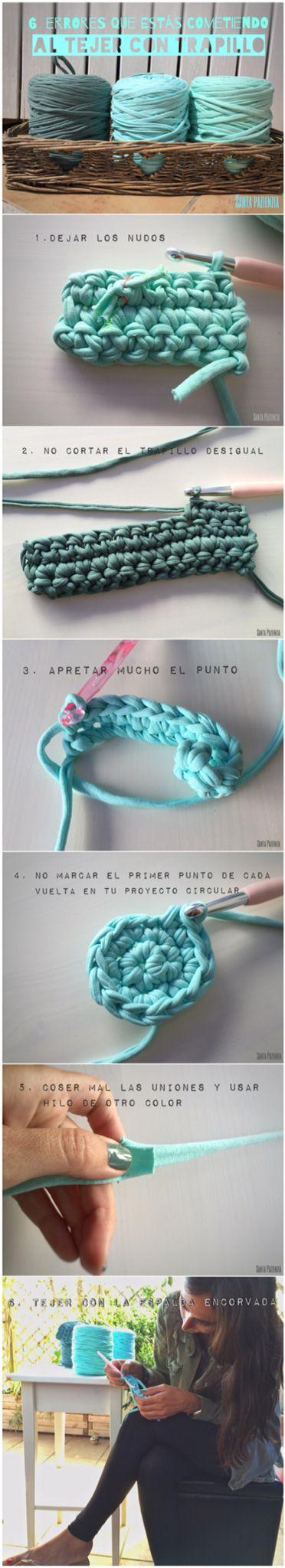 6 errores que estás cometiendo al tejer con trapillo. www.santapazienzia.com