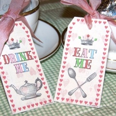 mad hatter gift tag