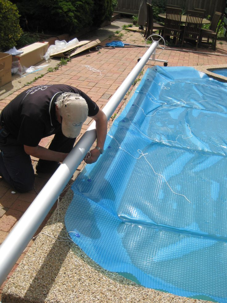 Pool Heat Pump >> Attach pool cover to reel | Swimming Pool Covers in 2019 | Swimming pool decks, Inground pool ...