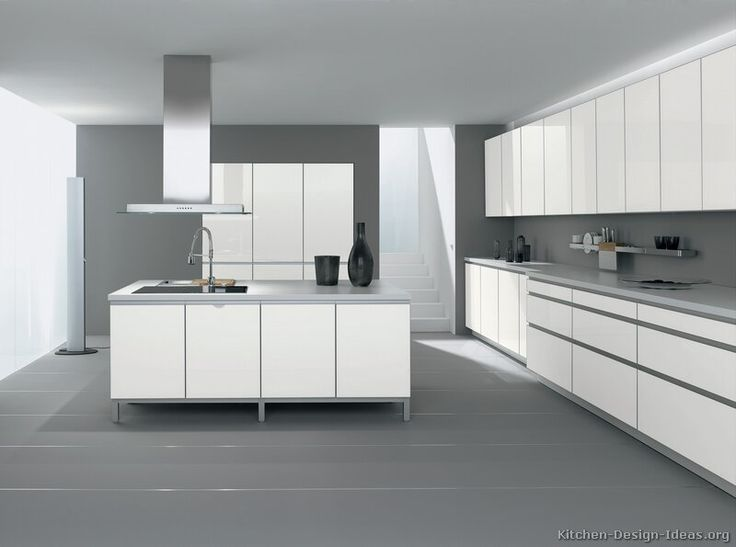 White Cabinets Chairs Grey Floor Pictures Of Kitchens Modern White Kitchen  Cabinets Page 2