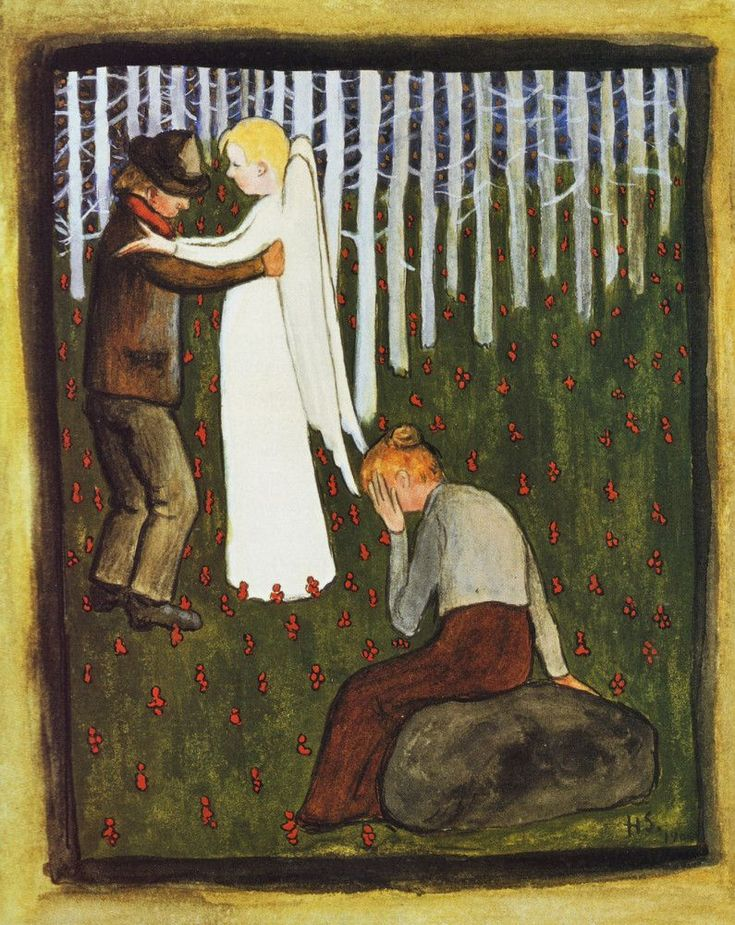 Unelma by  Hugo Gerhard Simberg (24 June 1873 - 12 July 1917)  a Finnish symbolist painter and graphic artist.