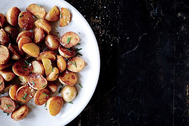 Find the recipe for Crispy Salt-and-Vinegar Potatoes and other chive recipes at Epicurious.com