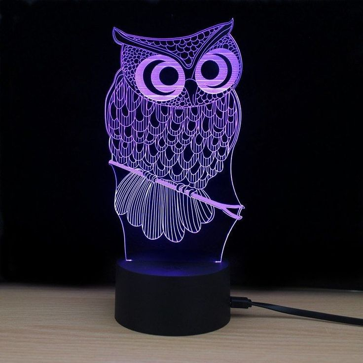 Shining Td182 Led Lamp 7 Color Changing LED 3D Lamp Owl Touch Atmosphere Night Light - COLORFUL #LedLamp