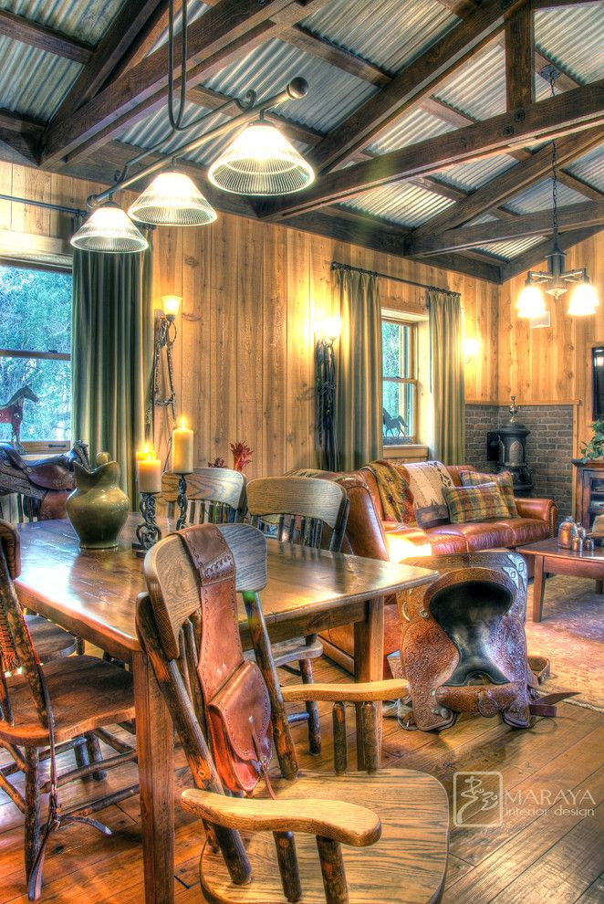 Corrugated metal on ceiling family room farmhouse with metal ceiling living room corrigated metal ceiling timber frame
