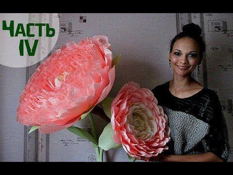 Огромный цветок для фотосессии (часть 1) - YouTube