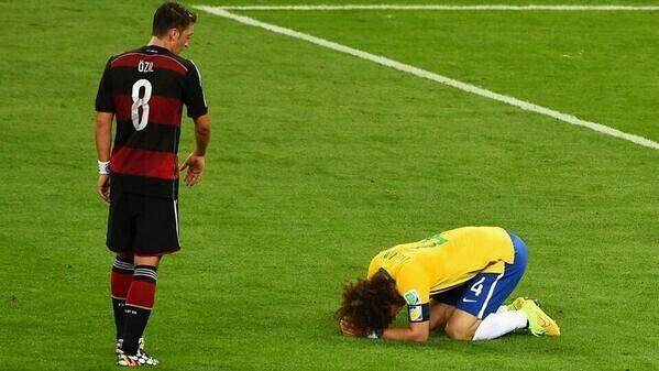 Sad moment when germany beat brasil 7-1
