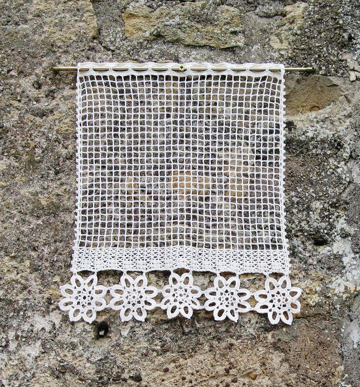 Rideaux Au Crochet Motif Coeur