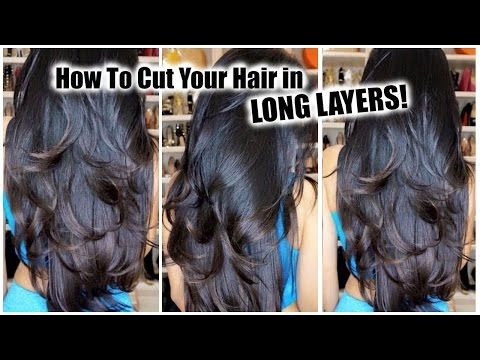 how to cut long layers at home