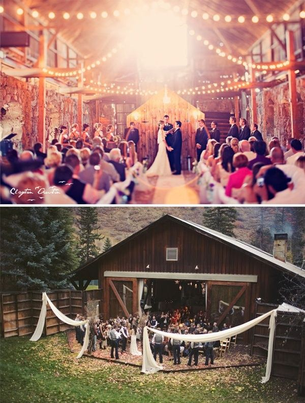 I've never really thought about it before but a barn wedding could be really awesome! And relatively easy to decorate for