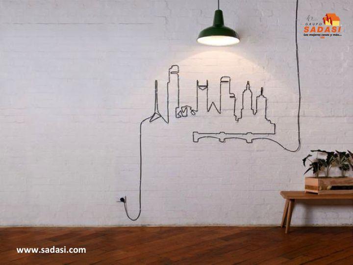 #gruposadasi  LAS MEJORES CASAS DE MÉXICO. ¿Cómo ocultar cables eléctricos en casa? Una muy buena opción y además divertida, es dibujar con los cables alguna figura. Así, en vez de verse estorbosos, tendrán una forma estética que seguramente le ayudará al diseño de su hogar. En Grupo Sadasi, le invitamos a visitar nuestro desarrollo PRADO NORTE, un lugar acondicionado con todas las comodidades para vivir. 01 (998) 881-00-77