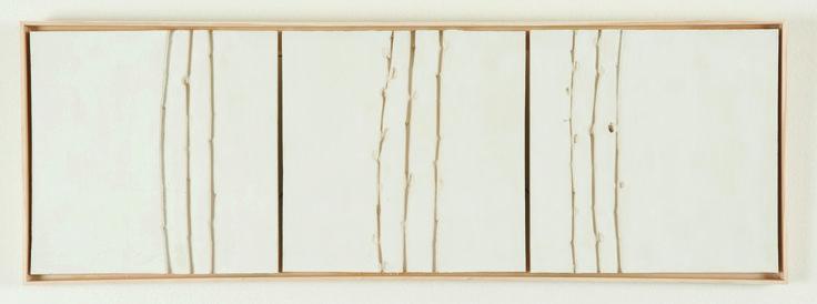 Triptiek T4T5T6 van Werner Watty is te koop via #Kunstmarktplaats.nl. #keramiek #triptiek #wandtegels #kunst #art #wilg #takje 75cm x 26cm x 1.4cm