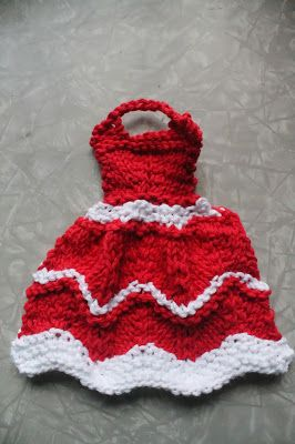Red dress knit and purl