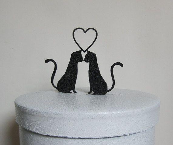 Hochzeitstorte Topper zwei Katzen in Liebe von Plasticsmith