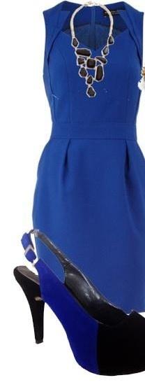 Vestidos Azul Rey Y Accesorios