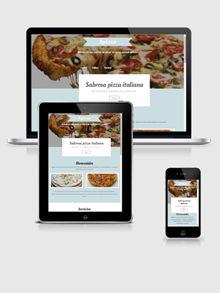 Diseño especial para Pizzería http://pizzeria1.belomar.es/