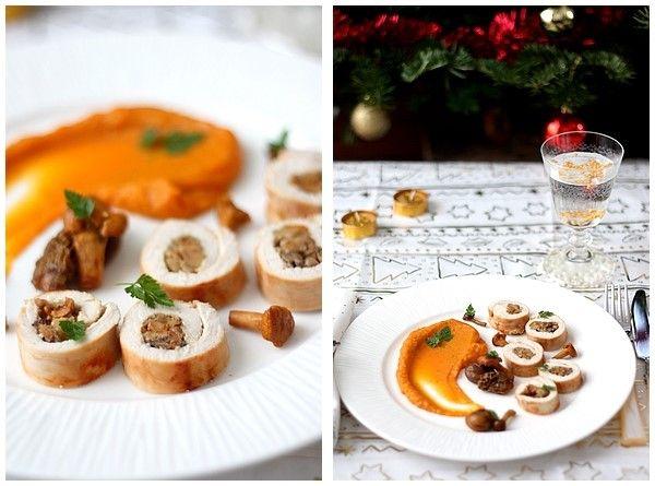 Roulés de dinde aux champignons et marrons